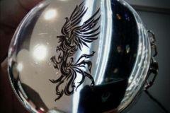 Складной стакан с гравировкой изображения